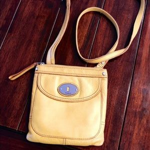 Yellow Fossil Crossover / Messenger Bag